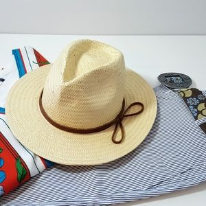 Urban Outfitters Straw Fedora Hat - NWT